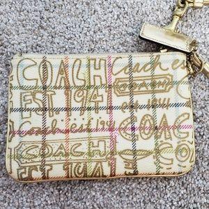 Coach logo wristlet